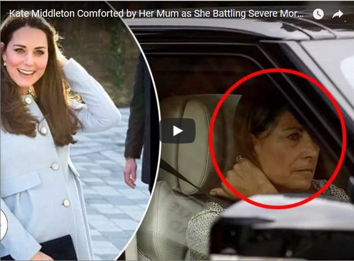 Kate Middleton Comforted by Her Mum as She Battling Severe Morning Sickness