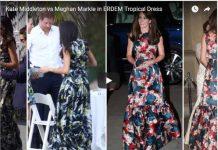 Kate Middleton vs Meghan Markle in ERDEM Tropical Dress