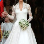 Kate Middletons gown for the wedding ceremony was designed by Sarah Burton for Alexander McQueen Photo C GETTY