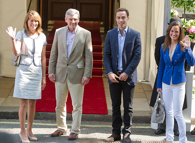 Kate's family Carole, Michael, James and Pippa Photo (C) GETTY IMAGES