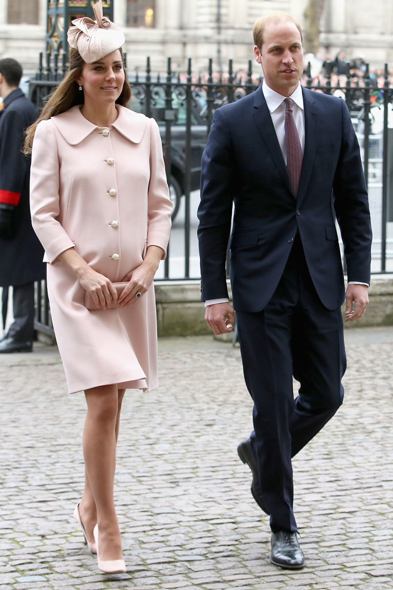 Kensington Palace confirmed the news Kate and William were expecting their third child earlier this month Photo C GETTY