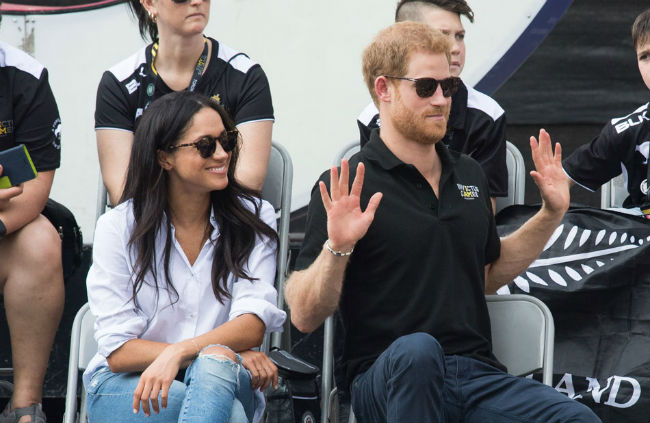 Meghan pictured laughing was also a positive sign Photo (C) GETTY