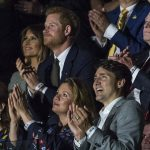 Melania Trump was just as enthralled by the proceedings smiling widely as others clapped and cheered for the athletes