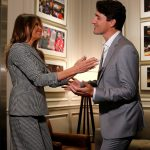 Melania enjoyed a more animated embrace with Canadian Prime Minister Justin Trudeau before the opening ceremony got underway