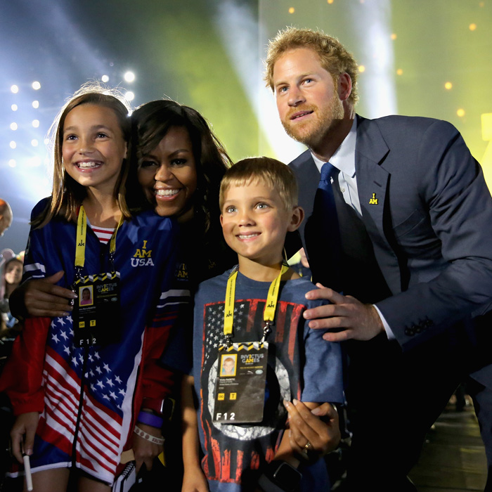 Michelle Obama attended the sporting event in Orlando in 2016 Photo (C) Chris Jackson, Getty Images for Invictus