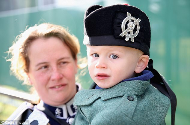 Owen Yarnell and his mother Fiona Glennie got dressed up for the historic event