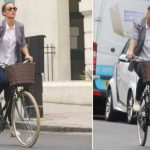 Pippa Middleton Matthews was seen cycling in London today on her 34th birthday.