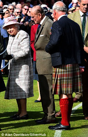 Prince Charles (second from right) and Princess Anne (right) all attended the Gathering
