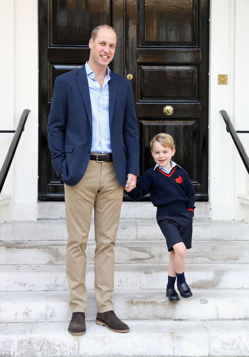 Prince George's official first day of school portrait has been released [Photo PA]