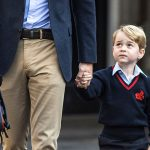 Prince George joined by his little cousin Maud at Thomass Battersea Photo C GETTY IMAGES