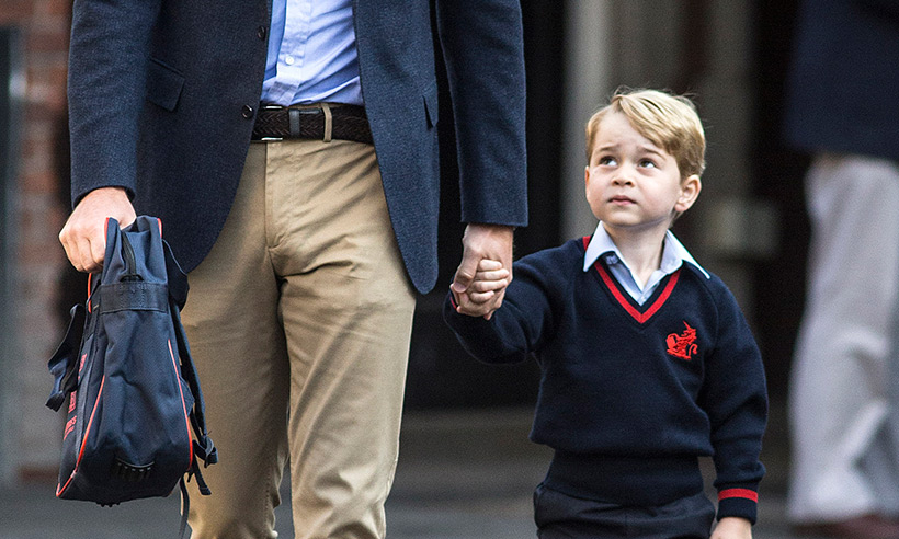 Prince George joined by his little cousin Maud at Thomas's Battersea Photo (C) GETTY IMAGES