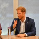 Prince Harry kicked off a busy day meeting youngsters being treated at the Centre for Addiction and Mental Health in Toronto, Canada's largest mental health