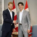 Prince Harry meets with Canadian Prime Minister Justin Trudeau in Toronto on Saturday September 23