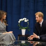 Prince Harry who met Melania Trump today told doctors at a pioneering mental health clinic