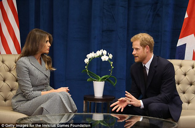 Prince Harry, who met Melania Trump today, told doctors at a pioneering mental health clinic