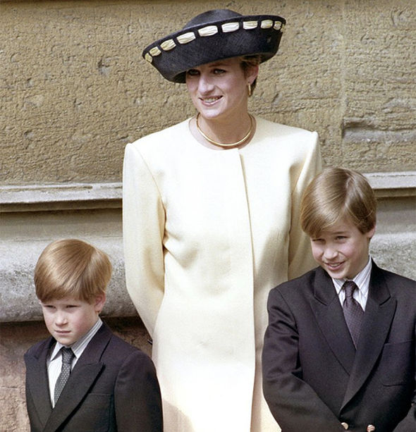 Prince William admitted if Diana was alive today she would have been a 'nightmare grandmother' Photo (C) PA