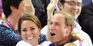 Prince William and Kate were famously photographed hugging at London 2012 Photo (C) GETTY IMAGES
