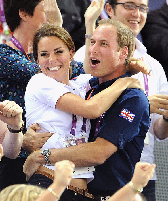 Prince William and Kate were famously photographed hugging at London 2012 Photo C GETTY IMAGES