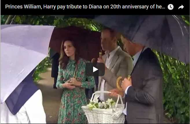 Princes William Harry pay tribute to Diana on 20th anniversary of her death. Aug 30 2017