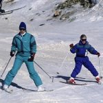 Princess Anne and her daughter went together on a skiing holiday in 1989 Photo C GETTY