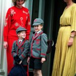 Princess Diana took both William and Harry on their first days Photo PA