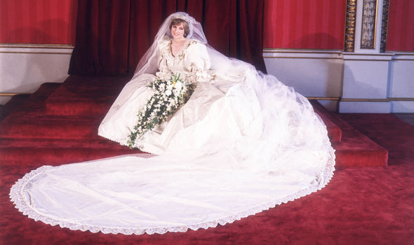 Princess Diana's wedding dress was overlaid with 10,000 pearls Photo (C) GETTY
