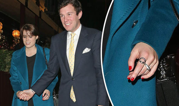 Princess Eugenie was seen with her boyfriend sporting a ring on her engagement finger Photo (C) XPOSURE