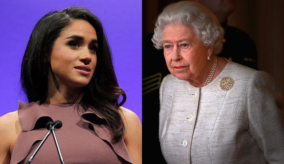Queen Elizabeth and Meghan Markle Photo (C) GETTY