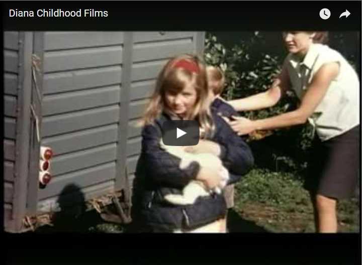 Rare Footage of Diana Childhood Films