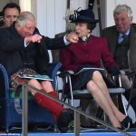 Revved up Prince Charles left looked to be enjoying himself alongside Princess Anne as the pair watched the action at the Braemar Games in Scotland