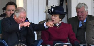 Revved up Prince Charles (left) looked to be enjoying himself alongside Princess Anne as the pair watched the action at the Braemar Games in Scotland