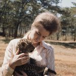 She visited Kenya in 1971 where she petted a baby leopard Photo (C) GETTY