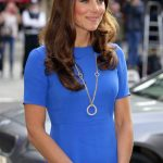 The Cartier gold hoop necklace that the Duchess of Cambridge is pictured wearing is said to be worth £55000 Getty