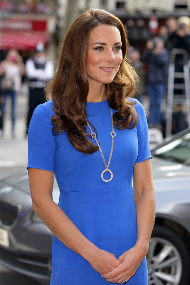 The Cartier gold hoop necklace that the Duchess of Cambridge is pictured wearing is said to be worth £55,000 [Getty]