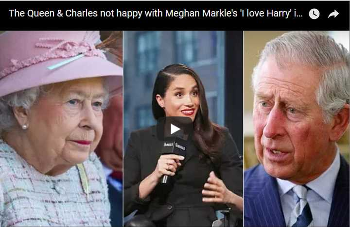 The Queen Charles not happy with Meghan Markles I love Harry interview