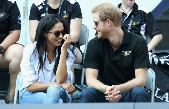 The couple were happy and relaxed looking Photo (C) GETTY