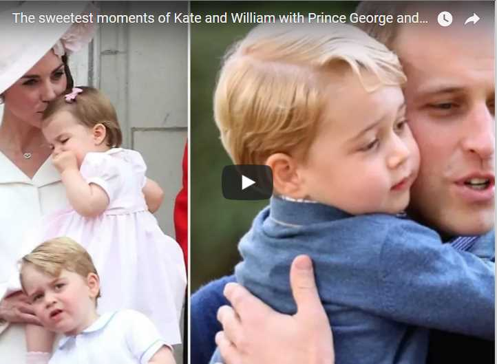 The sweetest moments of Kate and William with Prince George and Princess Charlotte