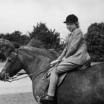 The young Princess always had a passion for horse riding Photo C GETTY