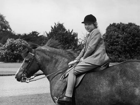 The young Princess always had a passion for horse-riding Photo (C) GETTY