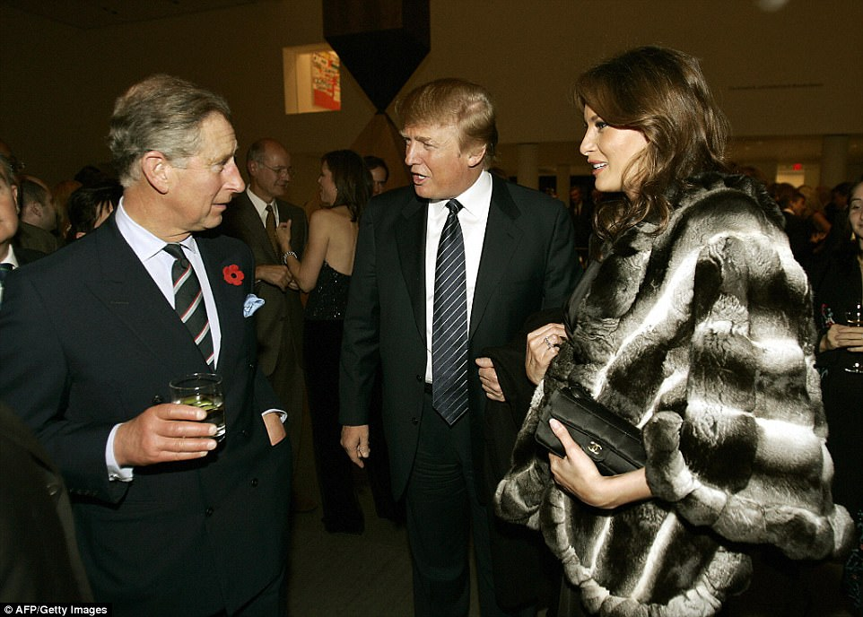 This is not the Trumps' first encounter with royalty. In November 2005, the President and First Lady - then just a newlywed couple - met Harry's father, Prince Charles