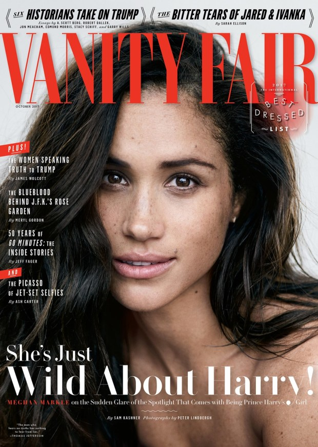 Vanity Fair cover photo of Meghan Marble PETER LINDBERGH