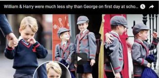 William & Harry were much less shy than George on first day at school