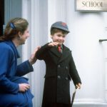 William appeared to have had a good first day leaving Wetherby school with a smile on his face Photo PA