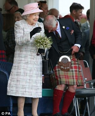 other members of the Royal Family at the annual gathering in Scotland