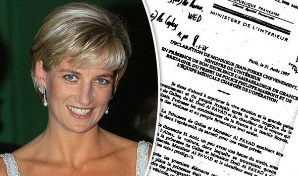Princess Diana's time of death is recorded at 4am British time Photo (C) GETTY, FCO