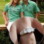 01 Autumn Kelly debuted the beautiful ring given to her by Princess Anne's son Peter Phillips at an equestrian event in August 2007 Photo C GETTY IMAGES