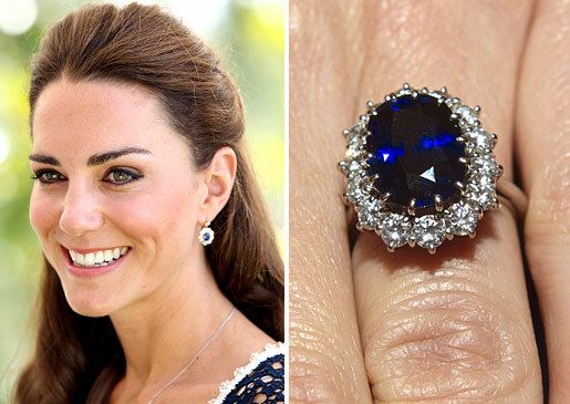 01 prince william gave kate his mother s distinctive 18 carat blue sapphire and diamond engagement ring photo c getty images dianalegacy latest update news images videos of british royal family dianalegacy