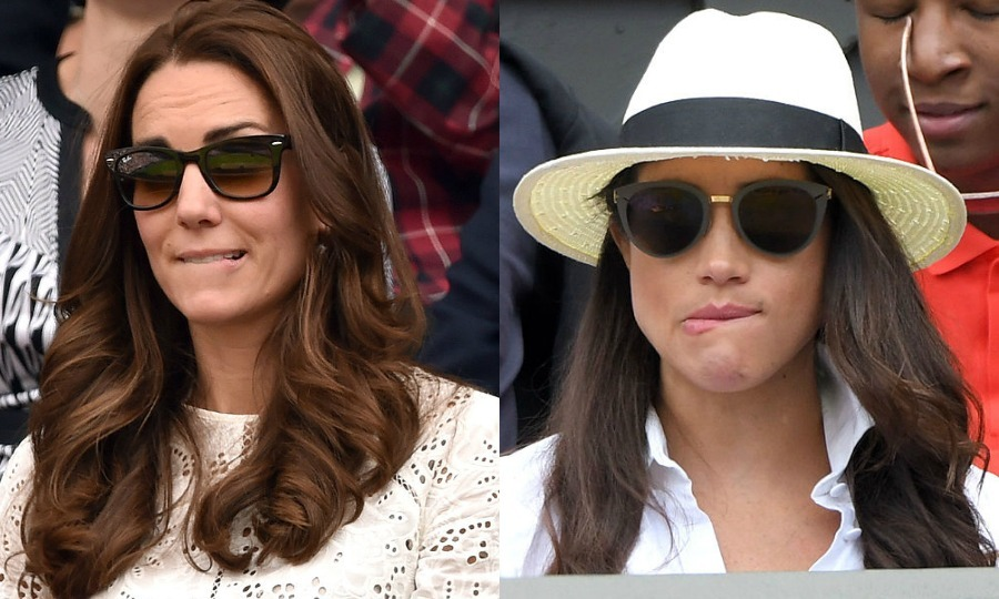 Catherine Duchess of Cambridge and Meghan Markle Photo C SAMIR HUSSEIN WIREIMAGE NICHOLAS HUNT GETTY