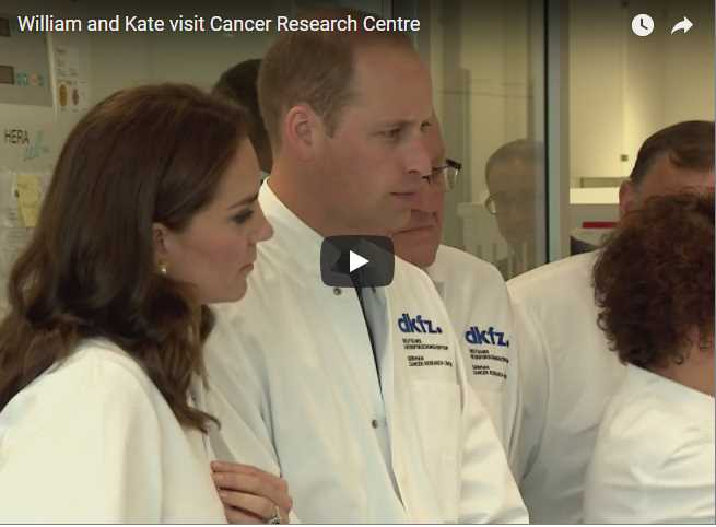 20 Jul 2017 Special footage of Prince William and Catherine visit Cancer Research Centre in Germany