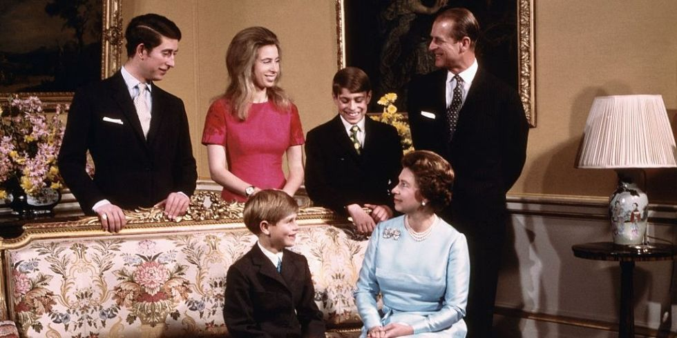 The Queen and Duke of Edinburgh with their children in 2007 to mark their diamond wedding anniversary Photo C GETTY